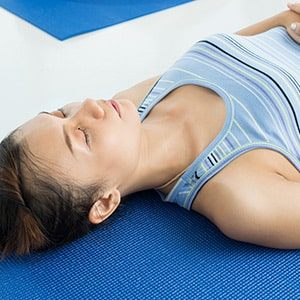 Endentspannung beim Yoga